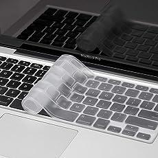 Mobicom MacBook Air Pro Keyboard Skin Cover Protector for US Layout Models A1278, A1286, A1369, A1370, A1398, A1425, A1465, A1466, A1502 (Soft Transparent)