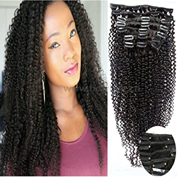 Gloryhair 100 human hair afro kinky curly clip in hair extensions gloryhair 100 human hair afro kinky curly clip in hair extensions natural black most popular weaves clip on hair extension pieces 1b color 100g for black pmusecretfo Images