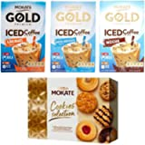Mokate Gold Premium Iced Coffee Drink 3 x 8 Sachets - Caramel, White Chocolate and Mocha Flavour and 1 x 260g Mokate…