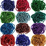 #1: Jewellery making Ball chain, Colored Ball Chain 1.5 mm 12 colors 2 MTR each color for Silk thread Jewellery Making kit, Jhumka and Bangle Making