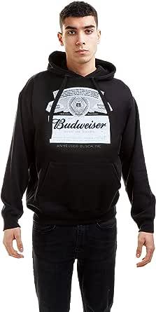 Budweiser Men's Label Hoodie Hooded Sweatshirt