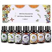 Huiles Essentielles Aromathérapie Top7 x 10ml, Huiles Essentielles 100% Pures & Naturelle pour Diffuseurs, Lavande…