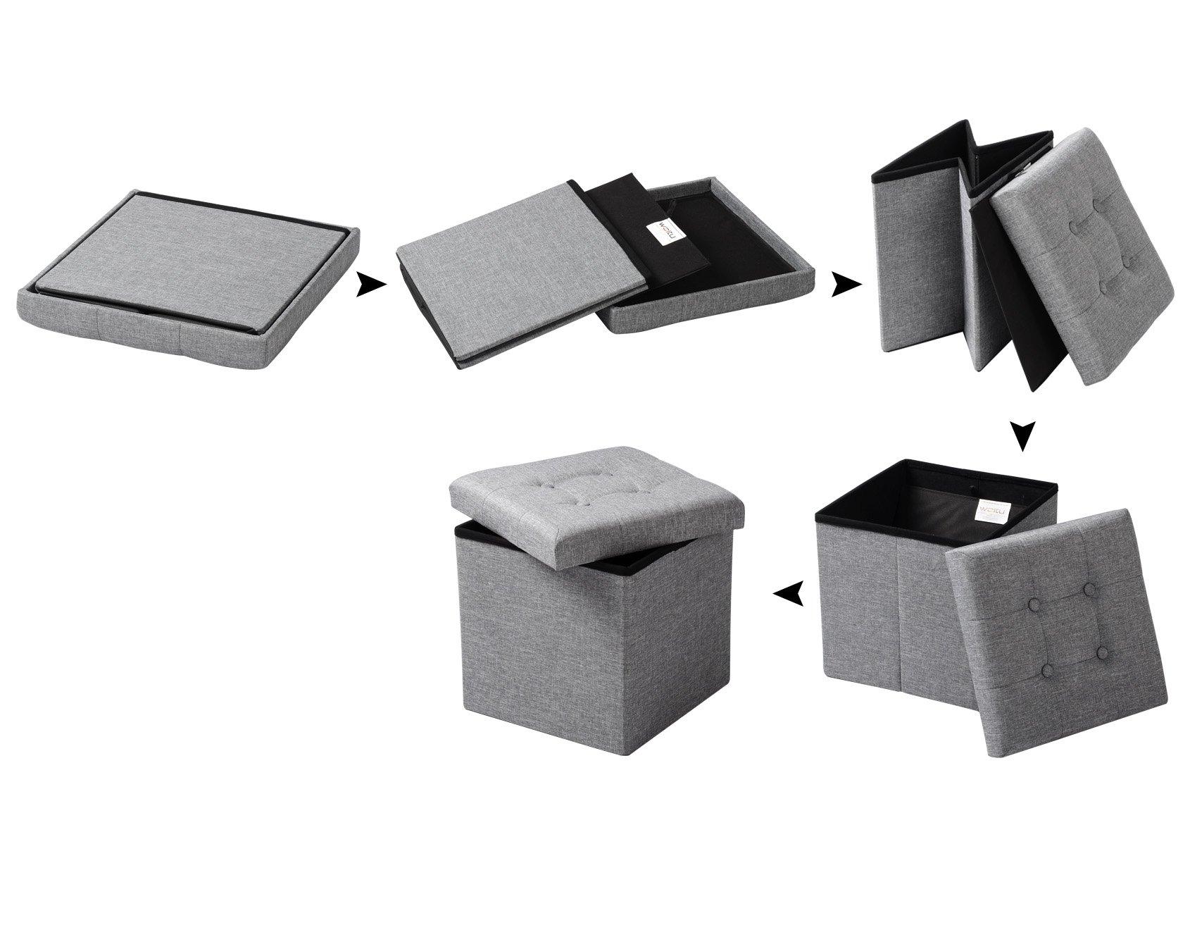 Woltu sh cm sgabello pieghevole sedia a cubo pouf cassapanca