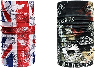 Noise NOIHWPCMB125 British Flag and Piston Skull Multifunctional Polyester Bandana, Free Size (Multicolour)