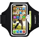 Löpararmband med Airpods blixtlåsficka mobiltelefon armbandshållare vattentålig sport gym fodral passar iPhone 12 Pro Max/11