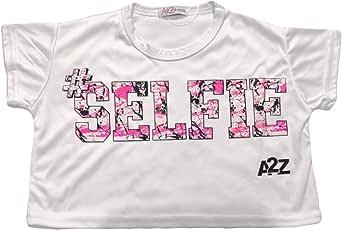 A2Z 4 Kids Kids Girls Selfie Splash Print Vest Top White Designers Summer Fashion Tank Tops /& Tees T Shirts New Age 5 6 7 8 9 10 11 12 13 Years