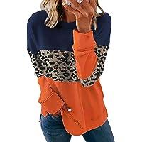 Moda da donna Casual Manica Lunga Girocollo a righe a contrasto Felpa Blocchi di colore Girocollo Camicetta Top Jumper…