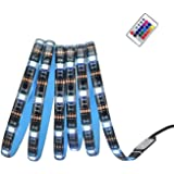 Light Strip 2 Meters Waterproof Lights Decoration Lighting with Remote Control for Kitchen Home Theater Laptop PC Monitor TV