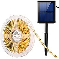 AMIR Solar LED Streifen, 180 LED Led Strip 3 Meter, IP65 Wasserdicht Solar Lichterkette, 8 Modi, Automatisch EIN/AUS…