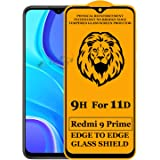 Xester® 11D Tempered Glass Screen Protector Compatible with Redmi 9 Prime(Black) Edge to Edge Full Screen Coverage with…
