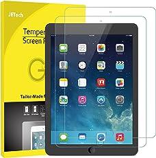 JETech 2-Stück Schutzfolie für iPad (9,7-Zoll, 2018/2017 Modell), iPad Air 1, iPad Air 2, Gehärtetem Glas Displayschutzfolie