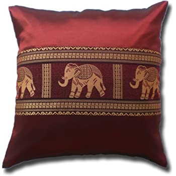 40X40 cm ca Leinen-Optik *Rote Elefanten*