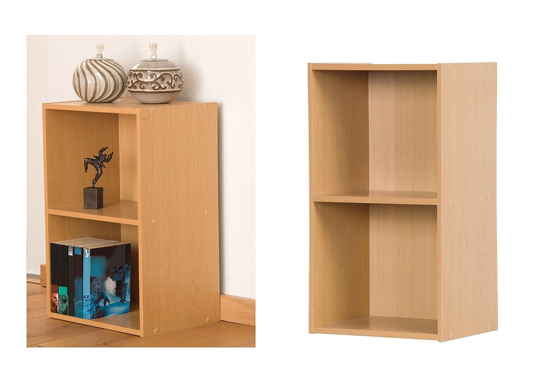 2 Tier Wooden Bookcase Storage Shelving Unit: Amazon.co.uk: Kitchen U0026 Home
