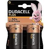 Duracell Plus Power D alkaliska batterier, paket med 2