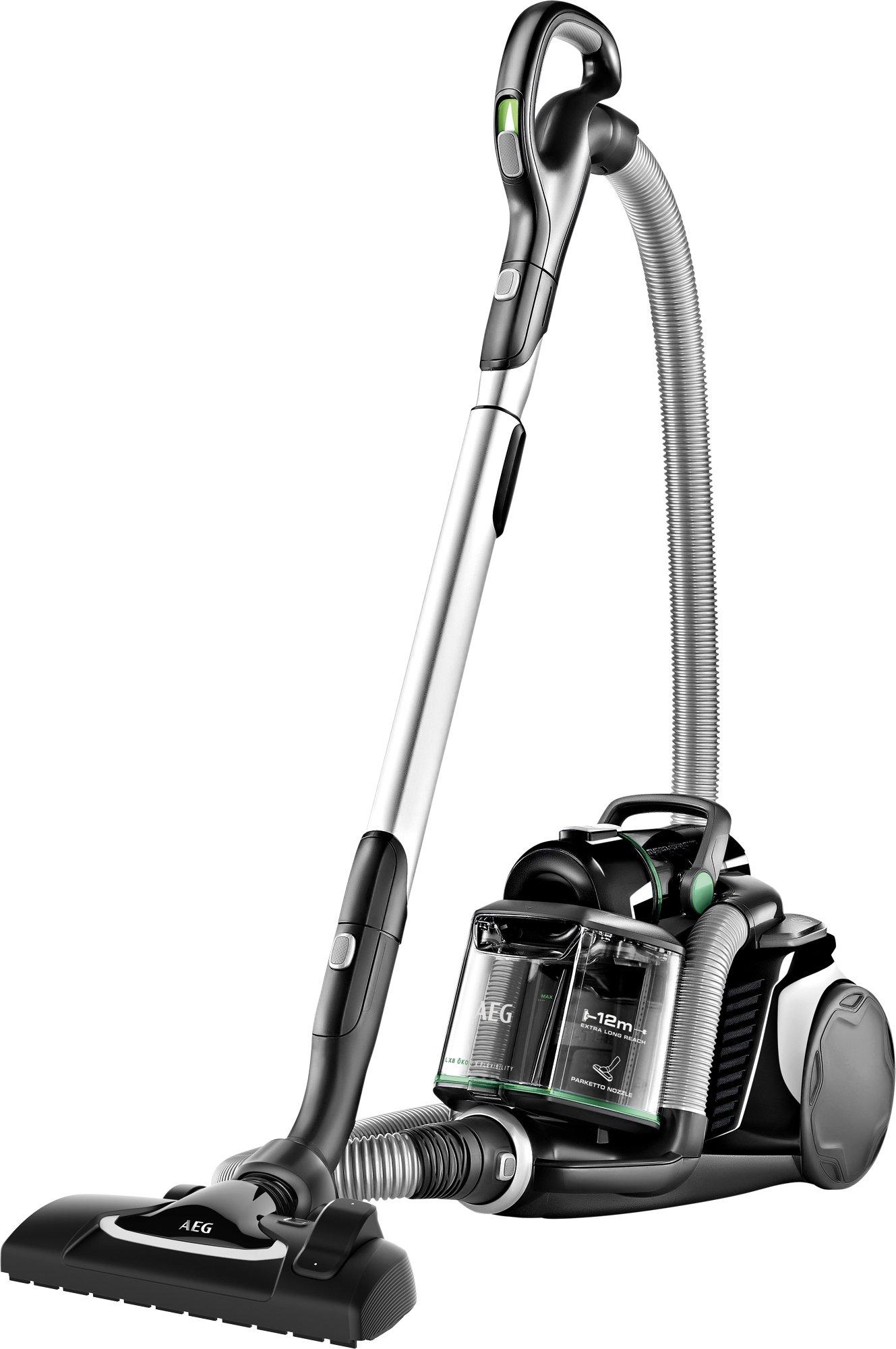 AEG LX8-2-ÖKOX Staubsauger ohne Beutel (65% Recyclingmaterial, inkl. Zusatzdüsen, stufenlose Leistungsregulierung, 600…