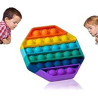 Prime Pop It Fidget Toys Push Pop Bubble Fidget Sensory Toy Silicone Stress Relief Toy Great Fidget Toy for Kids and…
