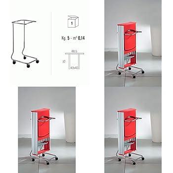 Sedie Pieghevoli Con Porta Sedie.Carrello Porta Sedie Pieghevoli Trolley Eurosedia Design Amazon