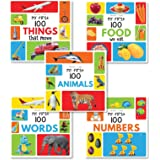 My First 100 Series Boxset- Pack of 5 Picture Books for Children (Animals, Words, Numbers, Food We Eat and Things That…