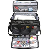 Luxja Sewing Machine Bag with Removable Padding Pad, Sewing Machine Carry Case with Pockets for Range of Sewing Machines and Sewing Accessories, Black