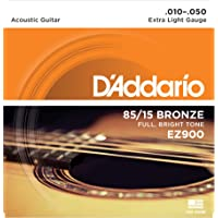 D'Addario Bronze Acoustic Guitar Strings_{.010-.050_Extra Light Gauge}_Stainless Steel Material
