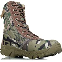 DFGRFN Bottes Militaires avec Fermeture éclair,Bottes de Combat Chaussures de Trekking,Chaussures de randonnée en Plein…