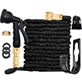 ANSYU 100FT Expanding Garden Hose Pipe With 8 function Spray Gun Expandable Flexible Magic Hose/Anti-leakage/Brass Connector
