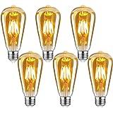 Edison Vintage gloeilamp, E27 4W Edison LED-lamp, warm wit, retro gloeilamp, vintage antieke gloeilamp, ideaal voor nostalgie