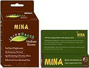 Mina Ibrow Henna Medium Brown brow tint with Brow Oil