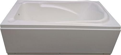 MADONNA Bonn Acrylic 4.5 feet Portable Bathtub for Small Bathroom - White