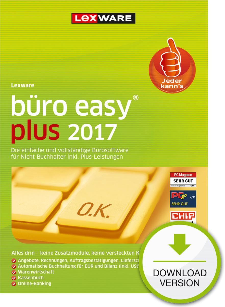 Lexware büro easy plus 2017 Download Jahresversion (365-Tage) [Download]