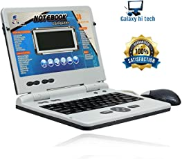 Galaxy Hi-Tech® 30 Fun Activities & Games Fun Laptop Notebook Computer Toy for Kids Educational Kids Laptop/Notebook/ Computer with 30 Fun Activities with music keyboard Colour - Blue-Grey