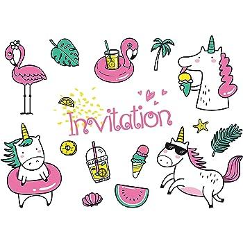 Edition Colibri Lot De 10 Cartes D Invitation Fete De Piscine En
