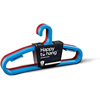 Happy To Hang Denimation 6 Piece Polypropylene Hanger, Blue and Red