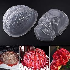 PBPBOX Halloween Puddingform Gehirn Zombie Brain Party Deko - 2 Pack