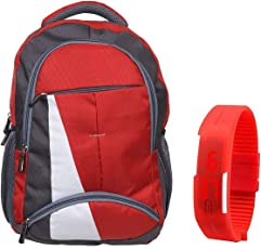 BLUTECH Canvas 30 Ltr Red School Backpack