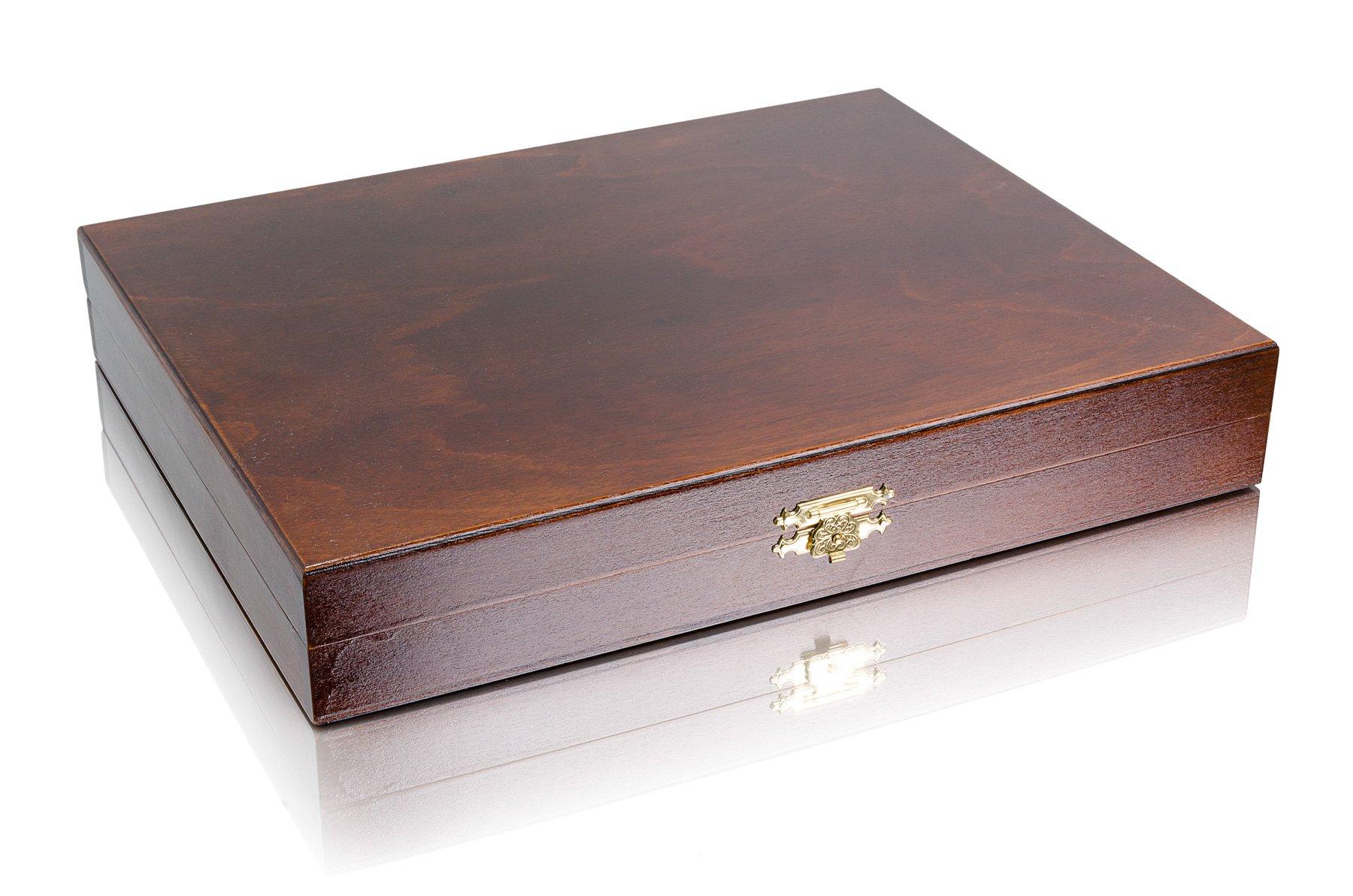 Master-of-Chess-Staunton-No5-Deluxe-Professionelle-gewichtete-Schachfiguren-aus-Holz-in-exklusiver-Holzbox