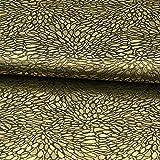 Brokatstoff Mosaikmuster schwarz gold - Preis gilt für 0,5