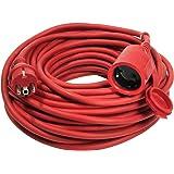 as - przedłużacz Schwabe, gumowy przedłużacz przedłużający, H05RR-F 3G1,5, czerwony kolor bezpieczeństwa, IP 44 – nadaje się