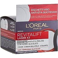 L'Oréal Paris Trattamenti Revitalift Laser X3 Dischetti Viso Anti-Età Antirughe Peeling con Acido Glicolico, EsfoliAnti…