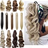 Long Short Claw Ponytail Hair Extension One Piece Cute Clip in on Ponytail Jaw/Claw Synthetic Straight Curly Hairpieces…