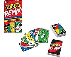 UNO Versione REMIX, Personalizza le Carte e Vinci, Gioco di Carte per la Famiglia7+Anni,GXD71