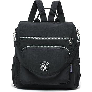8344c3fed390 Travistar Backpack Shoulder Bag-Waterproof Nylon Lightweight Handbag Anti  Theft Rucksack Casual DayPack Multifunction for Girls Women ladies
