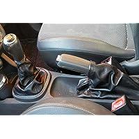 Opel corsa D cuffia cambio e freno in vera pelle nera