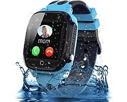Smooce Smartwatch kids, LBS / waterdichte tracker, telefoonhorloge voor jongens van 3-12 jaar (meisjes en jongens), SOS-oproe