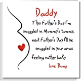 Baby Bump Father's Day Card for father-to-be/Dad/Daddy - love snuggle pregnant