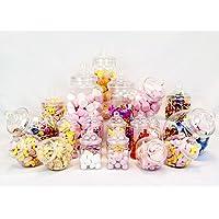 19bocaux vintage style victorien Pick & Mix Sweet Shop Candy Buffet kit Pack de fête