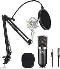 Tonor XLR zu 3.5 mm Kondensator-Mikrofon Kit Schall Podcast Studio Rundfunk & Aufnahme Microphone für Computer mit Popschutz und Verstellbarem Mikrofonhalter Mikrofonarm Mikrofonständer & Mikrofon Sets