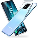 vau Fodral kompatibelt med Samsung Galaxy S20 (6,2 tum) – SoftGrip transparent mjukt silikonfodral mobiltelefonfodral tunn tr