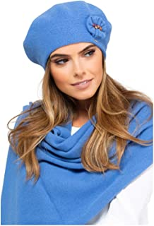 Winterset Frascati M/ütze mit passendem Schal verschiedene Farbauswahl Kamea