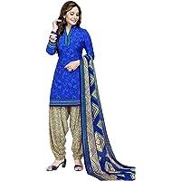 Raghavjee Sarees Women's Crepe & Faux Georgette Unstitched Salwar Suit